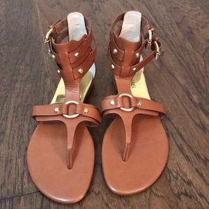MICHAEL Michael Kors Tan leather gladiator sandals